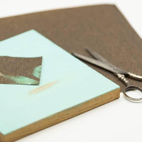 Kreidefarbe Schleifpapier